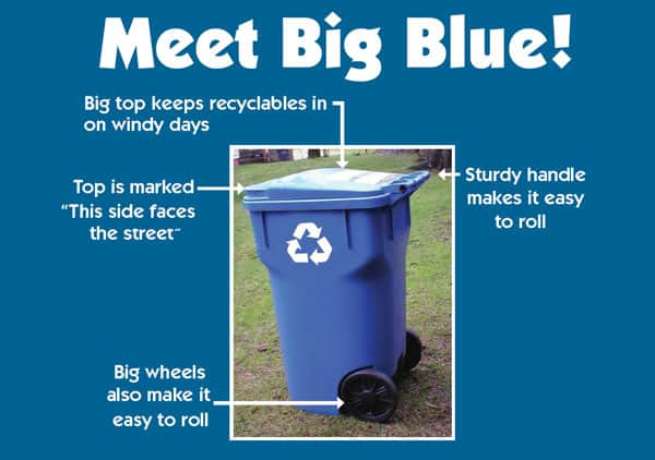 Big Blue Recycling Container